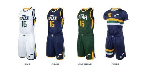utah jazz colors utah jazz unveil new logos unis court arena digest