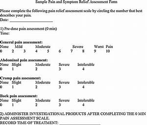 Pain And Symptom Relief Assessment Form