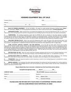 Free Printable Bill of Sale Form Equipment
