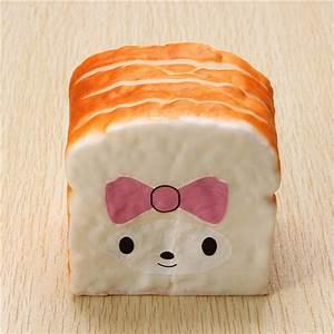 Squishy 10cm Soft Kawaii Emoji Toast Cute Face Bread Desk