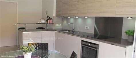 meuble bas cuisine avec plan de travail laque et bois inside création