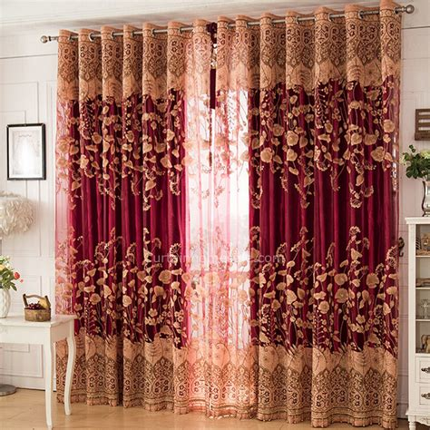 wine colored curtains luxury wine color poly cotton blend embossed craft