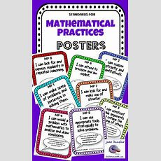 Freebie!! The Standards For Mathematical Practice Posters With Famous Quotes Introducing The