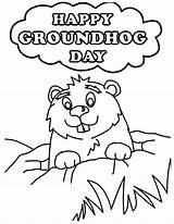 Groundhog Coloring Pages Printable Happy Ground Hog Sheets Sheet Activities Printables Preschool Kindergarten Template Getdrawings Niagara Falls Drawing Getcolorings Disimpan sketch template