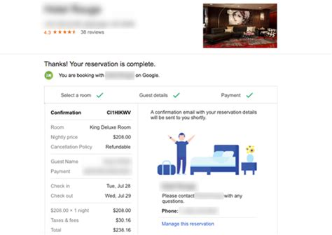 google hotel finder direct booking is being tested