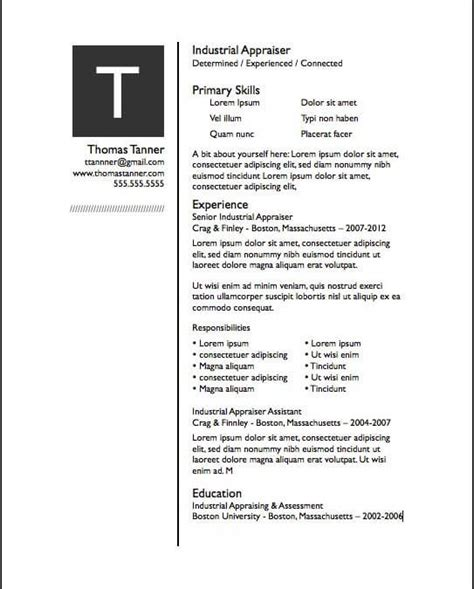 Free Resume Templates For Pages by Resume Free Iwork Templates