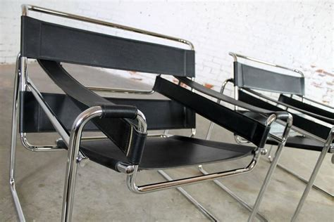 vintage wassily chairs by marcel breuer made in italy at