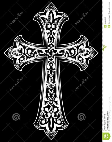 Antique Christian Cross Vector Stock Vector - Image: 33684218