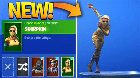 scorpion skin showcase  leaked emotes