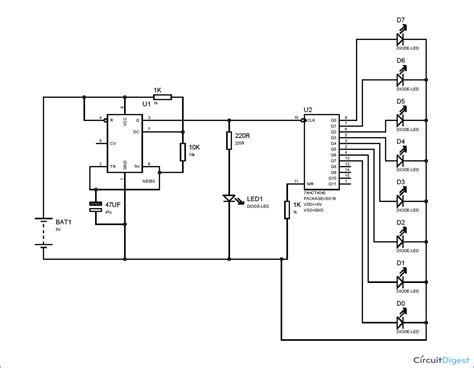 Electronic Circuits Projects Timer Based Binary