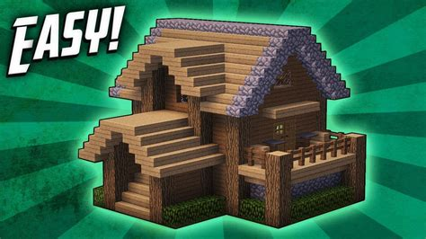 minecraft   build  survival starter house tutorial