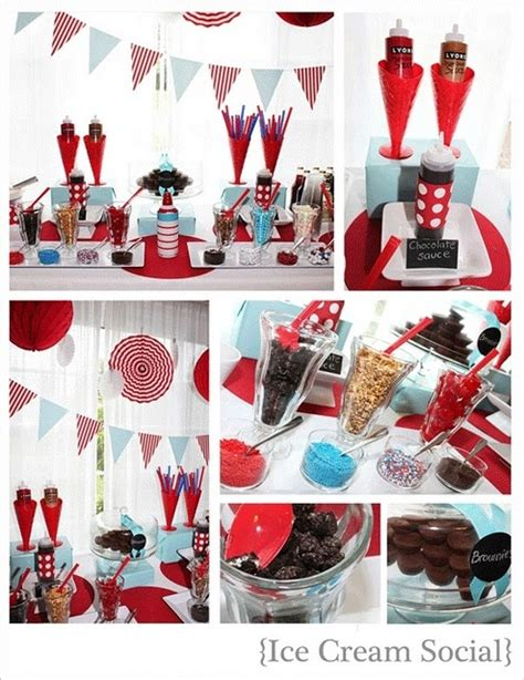 social ideas ice cream social party ideas pinterest