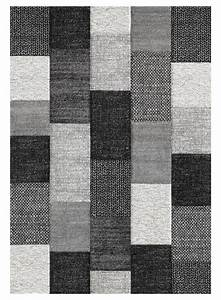 tapis de salon motifs carres belo 12 gris With tapis de salon gris