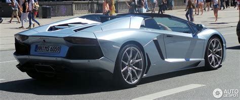 lamborghini aventador lp  roadster  june