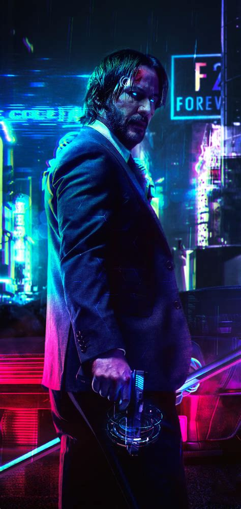 keanu reeves cyberpunk  fanart mobile wallpaper hd