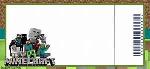 Minecraft Party: Free Printable Invitations, Hat and Cone