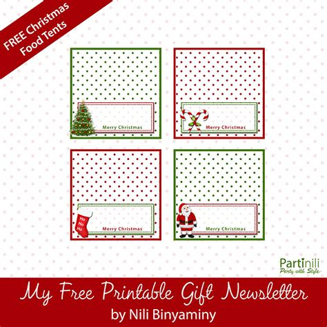 printable place cards food tents