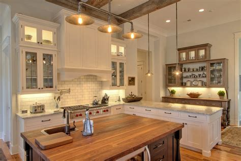 Rustic Lighting Fixtures Kitchen Traditional with Island