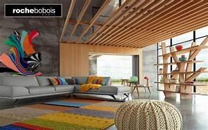 carrelage design tapis contemporain roche bobois With tapis bébé avec canapé en cuir contemporain roche bobois