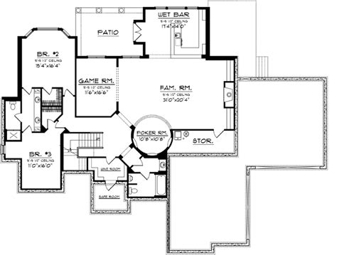 kitchen design blueprints traditional house plan 3 bedrooms 3 bath 4994 sq ft 1108