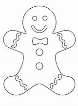 Gingerbread Man Coloring Drawing Pages Christmas Drawings Crafts Printable Colouring Templates Simple Card Boy Easy Sheets Preschool Houses Boys Patterns sketch template