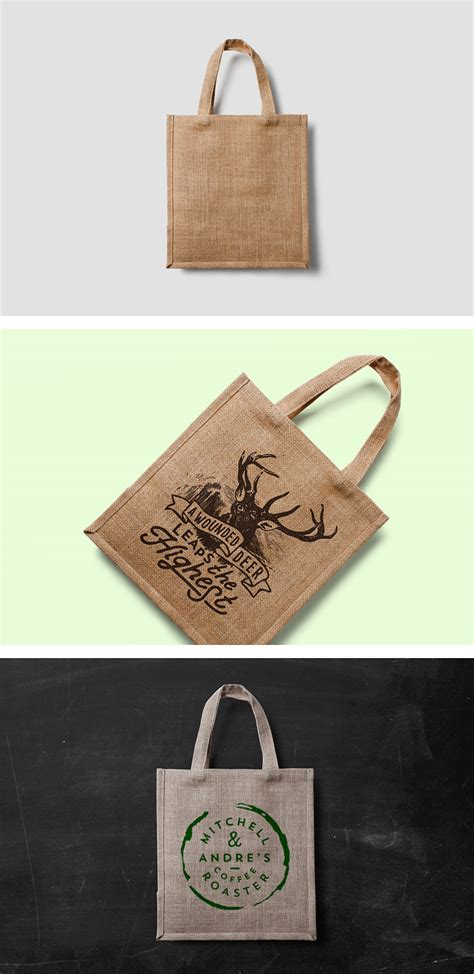 eco bag mock   psd template forgraphic