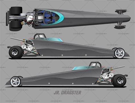 An important consideration in designing a vehicle is aerodynamics. Jr. Dragster Template | School of Racing Graphics