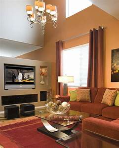 Pretty, Living, Room, Beige, Accents, Wall, Feat, Brown