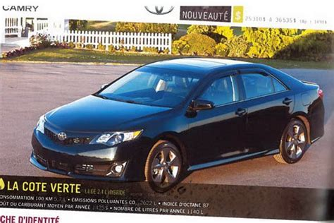 2012 Toyota Camry Specs by 2012 Toyota Camry Leaked Specs And Photos