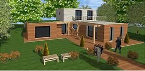 plan maison cube great elegant premier plan ufait maisonu With attractive plan de maison cubique 15 maison plein pied moderne mc immo
