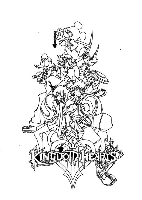Kingdom Hearts coloring pages...ADULT COLORING BOOK