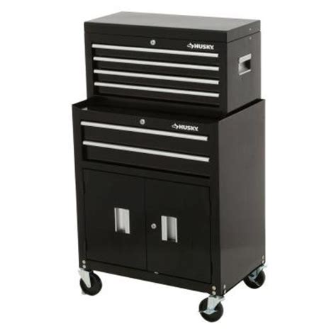 husky 26 in 6 drawer tool chest and rolling tool cabinet