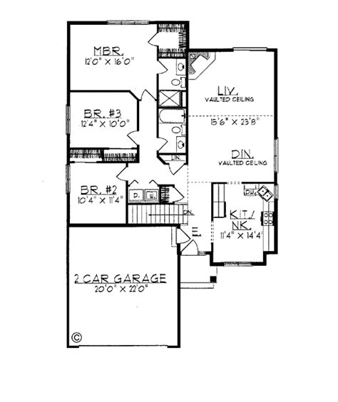 House Plan 97172 Ranch Style with 1448 Sq Ft 3 Bed 2 Bath