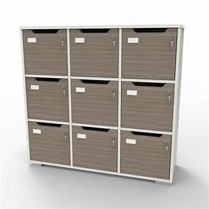 Meuble Casier Blanc : meuble casier en bois meuble vestiaire caseo professionnel pour bureau ~ Teatrodelosmanantiales.com Idées de Décoration