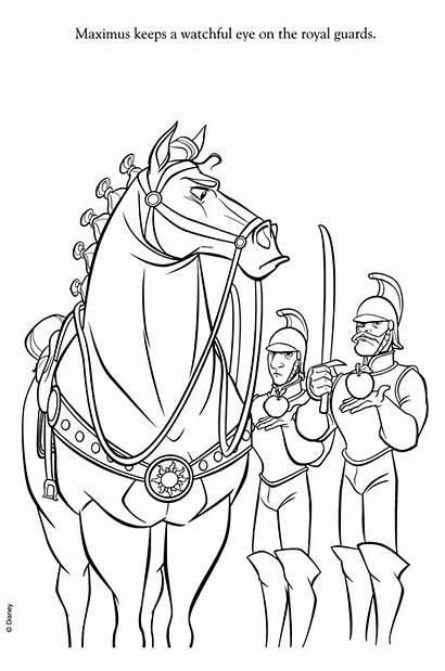Coloring Disney Pages Horse Tangled Maximus Rapunzel
