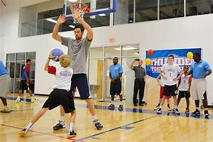 Nick collison visited our thunder youth basketball camp ...