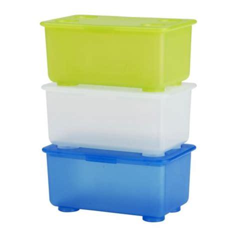 ikea boite plastique de rangement glis bo 238 te avec couvercle blanc vert clair bleu ikea