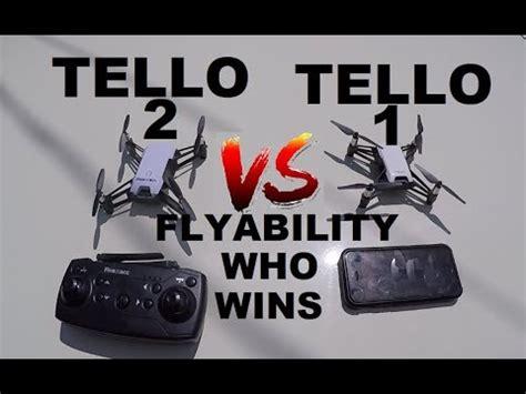 dji ryze tello   tello  flyability test side  side comparison review youtube