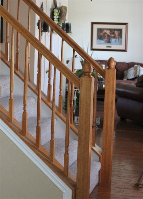 Painting Banisters by Painting Our Banister Simply Domestic