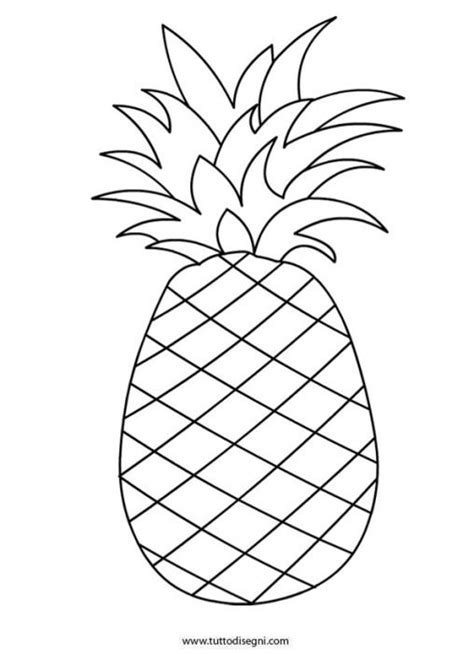 Kleurplaat Annanas by Ananas Coloring Pages