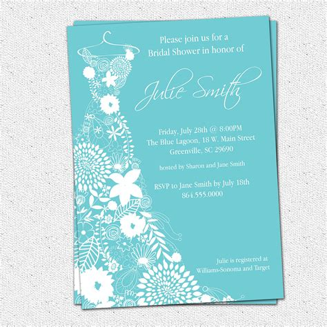 Free Bridal Shower Templates by Wedding Invitation Wording Wedding Shower Invitations