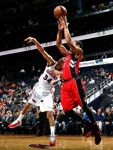 Demar Derozan In Toronto Raptors V Atlanta Hawks Zimbio