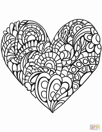 Coloring Heart Pages Double Printable Getcolorings