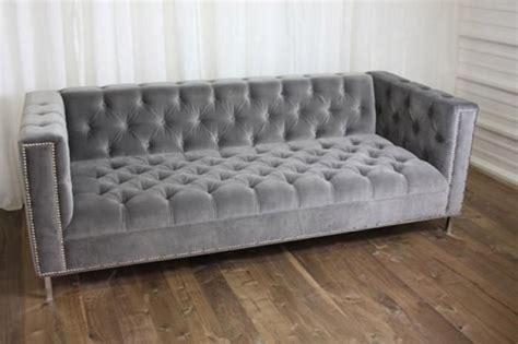 Tufted Velvet Sofa Gray by Grey Velvet Tufted Sofa For The Home