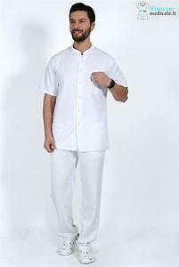 Tenue Blanche Homme : tenue medicale homme blanc pas cher tenue podologue tenue infirmier ~ Melissatoandfro.com Idées de Décoration