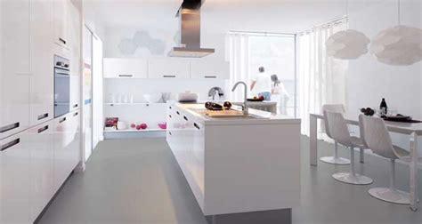cuisine toute blanche la cuisine blanche confirme style de déco tendance