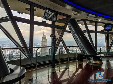 Tower Observation Deck by Wheelchair Accessible Menara Kl Tower Petronas Towers