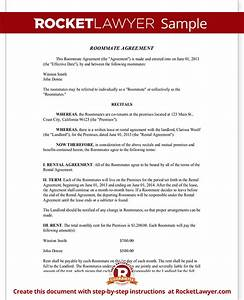 roommate agreement template free - roommate agreement template free form with sample