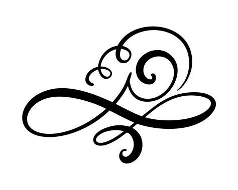 Vector floral calligraphy element flourish divider for