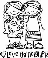 Neighbor Thy Clip Clipart Craft Yourself Sunday sketch template